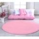 Круглый розовый ковер  в детскую комнату для девочек